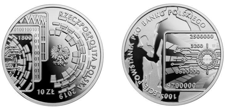 Moneta kolekcjonerska na 100 lat PKO BP