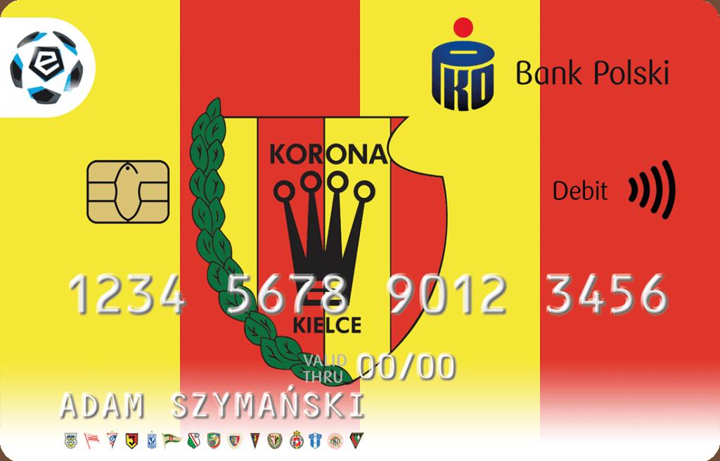 Korona Kielce karta PKO BP